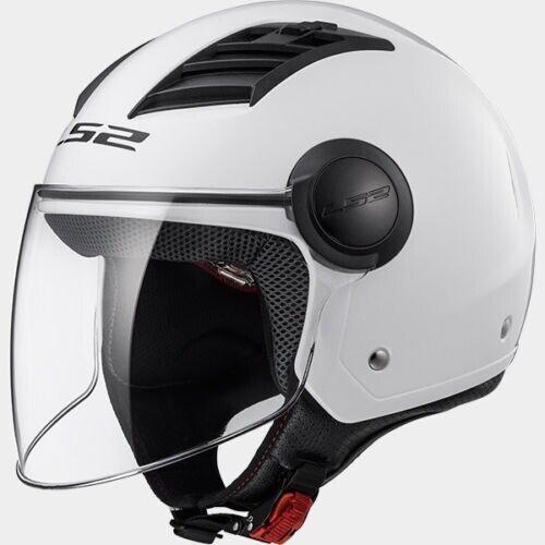 CASCO MOTO SCOOTER JET LS2 OF 562 AIRFLOW GLOSS WHITE// BIANCO LUCIDO TAGLIA M