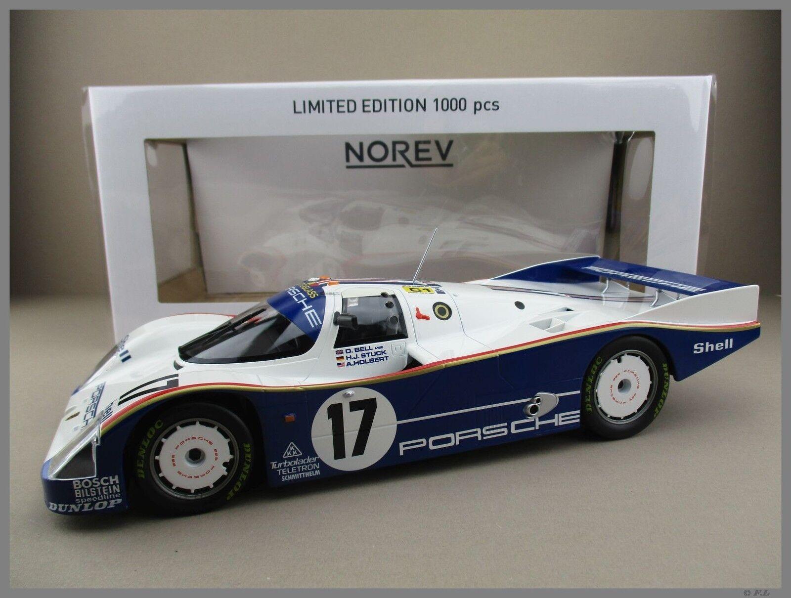Porsche 962 C - 24h le mans 1987 Bell teatro holbert norev 1 18 OVP nuevo