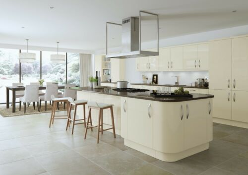 NEW HIGH GLOSS TURIN IVORY//CREAM kitchen doors and drawer fronts AVAILABLE NOW