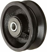 Rwm Casters Vir 0415 08 4 Diameter X 1 12 Width Cast Iron V Groove Wheel