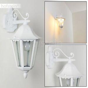 weisse Hof Veranda Terrasse Lampe Milchglas Garten Außen Wand Leuchten klassisch