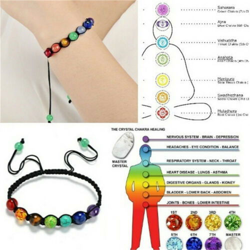 7 Chakra Healing Balance Perlen Armband Yoga Leben Energie Armband SchmuckFT