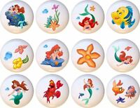 Set of 12 Little Mermaid Ariel CERAMIC Drawer Pulls Dresser Drawer Cabinet Knobs
