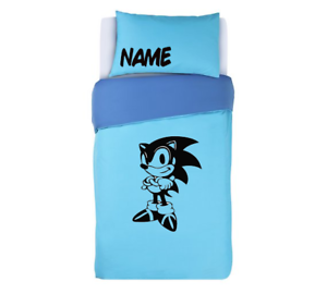 SONIC THE HEDGEHOG Duvet Cover /&  Pillows Bedding Set PERSONALISED XBOX PS4
