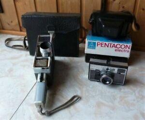 2 Alte Kameras - Supra Meopta Plus Pentacon Electra - In Originaltaschen