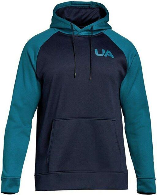 Under Armour Men/'s Blue Colorblock UA Storm Armour Fleece Pullover Hoodie