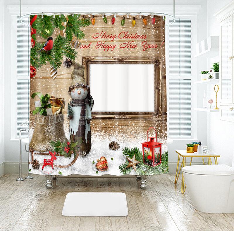 3D Weihnachten Xmas 032 Duschvorhang Wasserdicht Faser Bad Daheim Windows DE   Große Auswahl