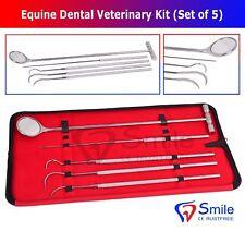 Equine Dental Mirror Scaler Probe Explorer Veterinary Kit Set Smile Dentale