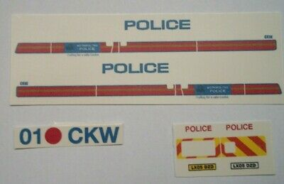 CODE 3 clear Waterslide decals No 217 Mk 6 Ford Transit POLICE CAR