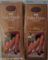 2 Cvs Full Figure Pantyhose / 1x Beige_cotton Panel_reinforced Toe