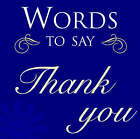 Words to Say Thank You by Ryland, Peters & Small Ltd (Hardback, 2007)