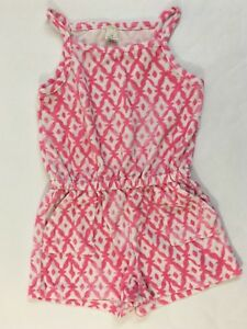 f64d3f5715e8 Crewcuts by J Crew Girls Size 7 Terry Romper One Piece Pink