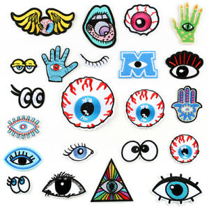 DIY-Eye-039-s-Badge-Patch-Embroidered-Sew-Iron-On-Patches-Badge-Fabric-Applique-New