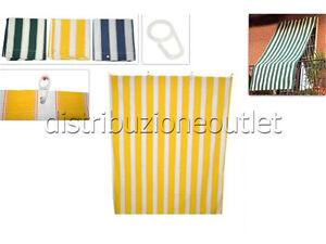 Tende Da Sole Con Anelli.Tenda Da Sole Con Anelli In Tessuto Per Balcone Vari Colori 145x290