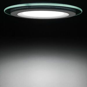 4 inch round glass led recessed ceiling light 12 watt with image is loading 4 inch round glass led recessed ceiling light aloadofball Image collections