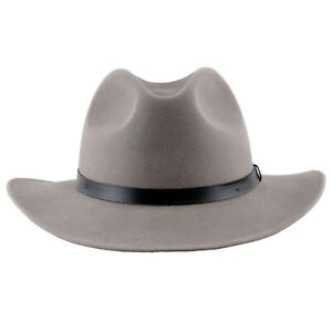 12da002c9cd4a Details about Sterkowski  REDWOOD  Wool Felt Wide Brim Fedora Hat   Elegant  Retro Manly Cowboy