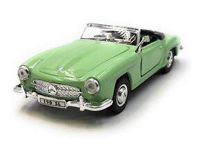 Coche-a-Escala-Mercedes-Benz-190Sl-Oldtimer-Verde-Cabrio-Auto-1-3-4-39-con