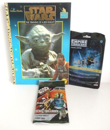 Star Wars Puzzle Book Pocket Model Game Pack And Micro Comic Fan Pack Set