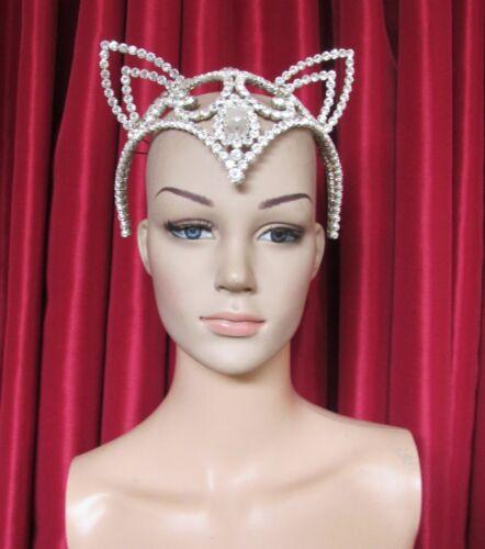 Da NeeNa H135 Miss Universe World America CAT FOX Crystal Star Headdress Crown