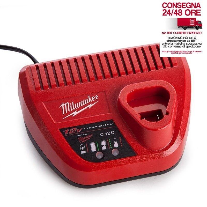 CARICABATTERIE C12 C MILWAUKEE 12 VOLT SERIE M - 4932352000