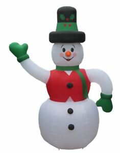 CHRISTMAS-SANTA-HUGE-20-FT-TALL-FROSTY-SNOWMAN-INFLATABLE-AIRBLOWN
