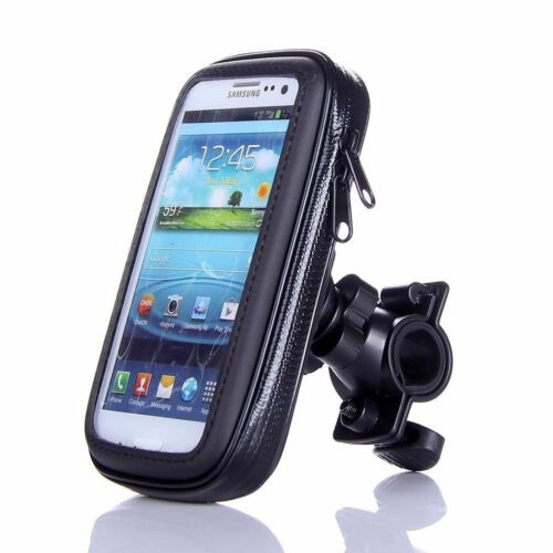 Universal Waterproof Bicycle Rotating Handle Bar Holder Case Black 4.2 (S)