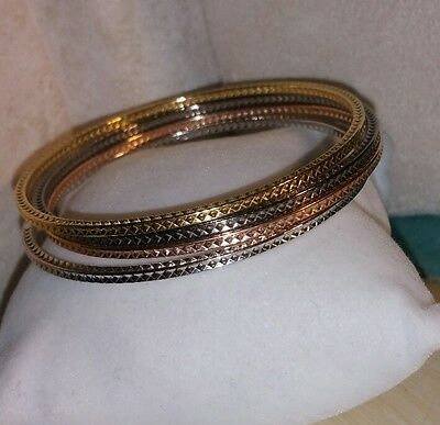 Ross-Simons Sterling Silver Basketweave Bangle Bracelet