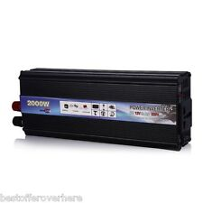 DC 12V to AC 220V Car Vehicle USB Power Inverter Adapter Converter 10A 2000W