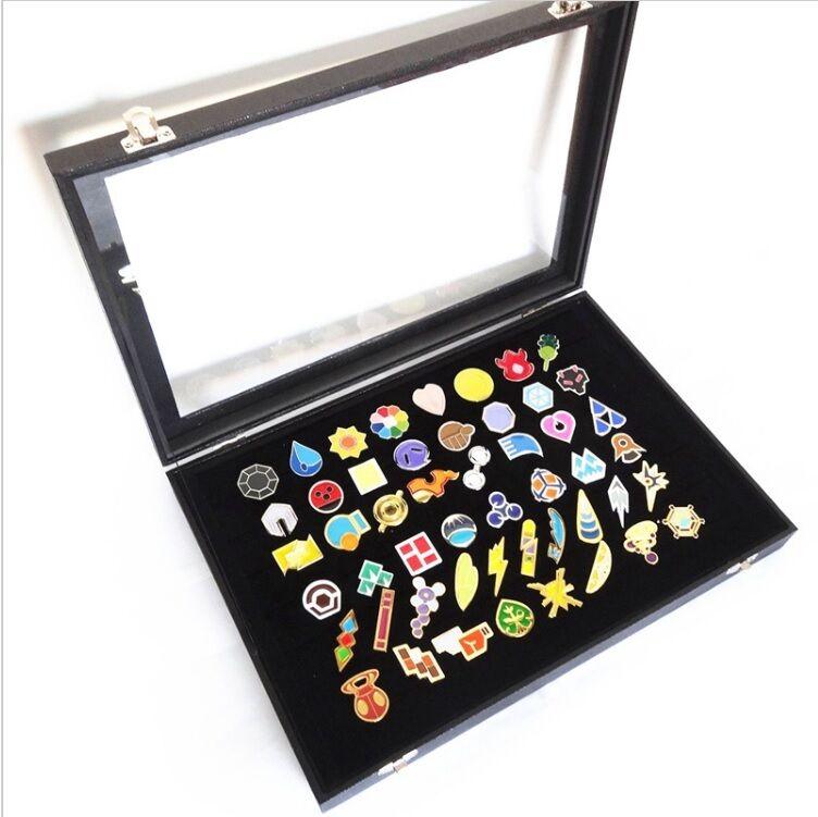 POKEMON 50 MEDAGLIE LEGA JOHTO SPILLE SPILLE SPILLE Gen 2 gold silver cristallo badges gym pin 1af07d