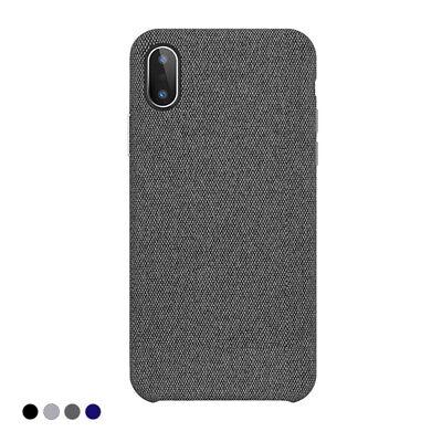 Cover Custodia in Tessuto Silicone Case Stoffa Texture Tela Soft per iPhone X   eBay