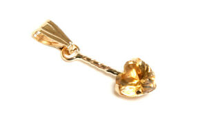 9ct-Gold-Citrine-Heart-necklace-Pendant-no-chain-Gift-Boxed-Made-in-UK