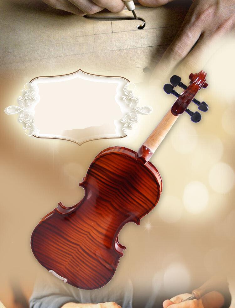E35 Handmade 4 4 Full Size Wooden Violin Beginners Practice Musical Instrument M