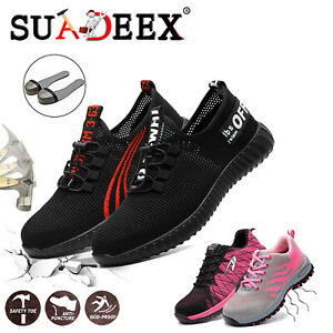 Scarpe-antinfortunistica-Donna-S3-Scarpe-da-lavoro-ginnastica-leggere-running