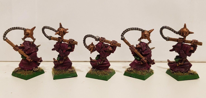 5 x SKAVEN Classic Plague Censer Bearer well painted metal models (B) OOP