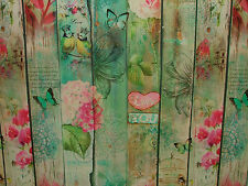 2m Lovers Garden Photo Printed Designer Cotton Curtain Fabric Upholstery Fabric