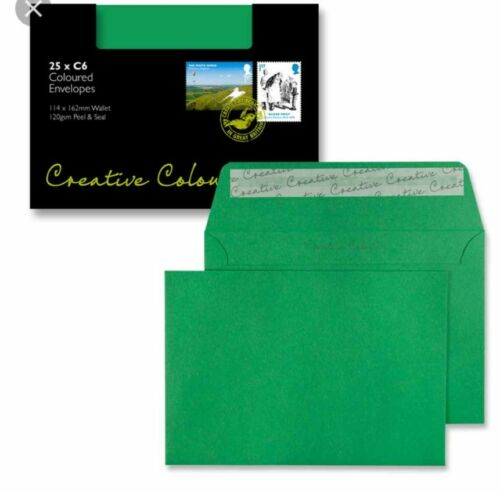 10 C4 Blake avocado emerald green envelopes invites mailing fit A4 flat  p /& s