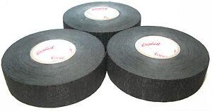 3x-Coroplast-FCC-bande-en-tissu-avec-voile-type-8551-25mm-x-25m-Adhesif-TVA