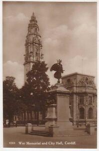 WAr-Memorial-amp-City-Hall-Cardiff-RP-Postcard-B581