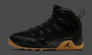 quality design 73db9 6fee3 Image is loading Nike-Air-Jordan-9-IX-Retro-Boot-Black-