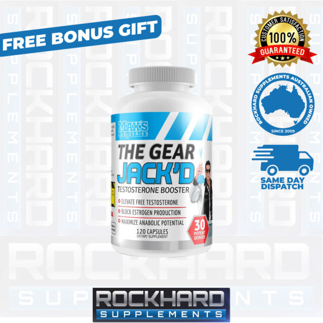 Max's Lab Series The Gear Jack'D Testosterone Booster 120 Caps Maxs JackD