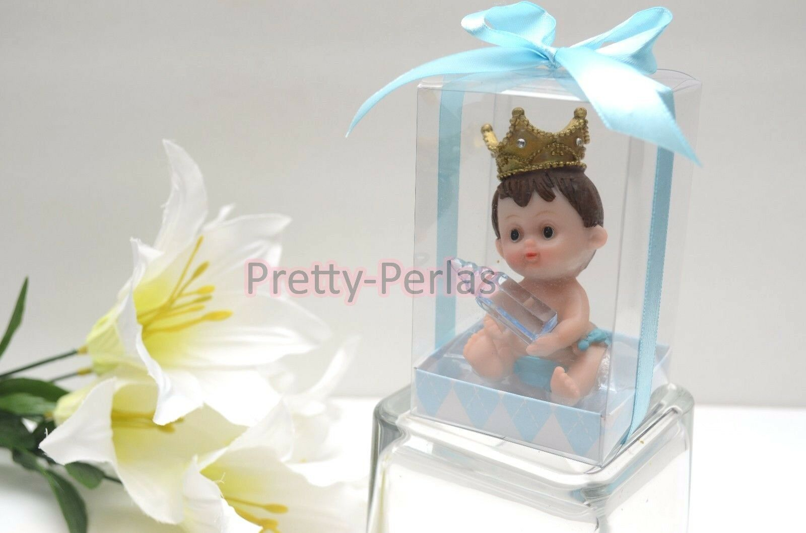 18PC Baby Shower Party Favors Figurines Boy Blau Recuerdos De Nino Decorations