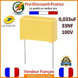 Condensateur-MKP-0-033-F-100V-33nF-0-033uF-332J100V-Polypropylene