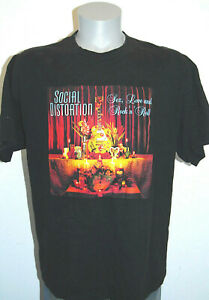 Social Distortion Sex Love and Rock n Roll shirt L black album cover Mike Ness