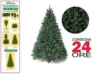 Albero Di Natale Ebay.Albero Di Natale Pino 150 180 210 240 270 Superfolto Realistico Verde Automatico Ebay