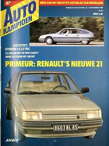 Berichte & Zeitschriften Gastfreundlich 1985 Autokampioen Magazin 47 Citroen Xc 22 Trs Opel Kadett Bmw 323i Renault 21 Automobilia
