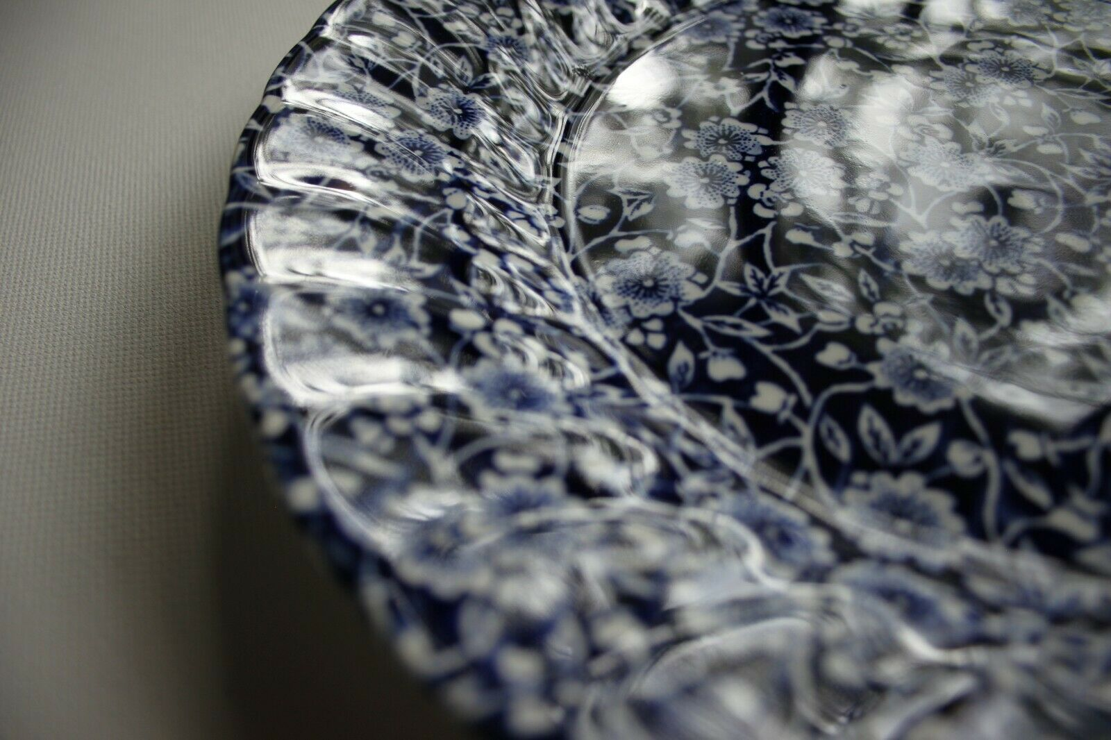 Churchill China Royal Wessex Nankin Blue and White Chelsea Salad Plate Plate 20 Centimetre White