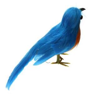 New Fake Artificial Bird Realistic Home Decor Spadger Taxidermy Sparrow #10