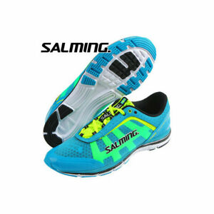 official photos 97ff2 5dfef Details about Salming Speed Shoe Mens Natural Running Superlight Cyan Blue  NEW