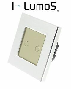 I LumoS Silver Aluminium Frame Touch WIFI/4G Remote On/Off LED Light Switches