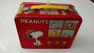 Peanuts-Snoopy-Charlie-Brown-Lucy-and-Woodstock-Lunchbox-034-Vintage-034